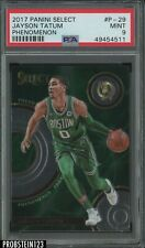 2017 Panini Select Phenomenon Jayson Tatum Celtics RC Rookie PSA 9 MINT