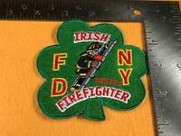 Y-6 FIRE DEPARTMENT PATCH - FDNY - IRISH FIREFIGHTER - TRUCKIE - CLOVER