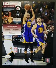 STEPHEN CURRY & KLAY THOMPSON Signed GOLDEN STATE WARRIORS 8X10 photo. JSA
