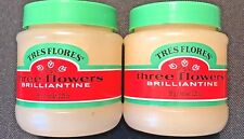 Three Flowers Brilliantine Hair Styling Pomade Solid 3.2 oz (Pack of 2)