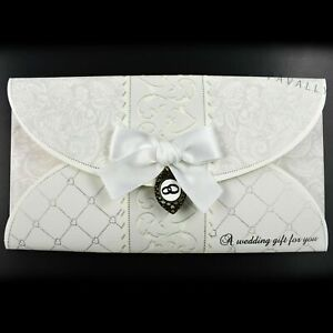 HAND CRAFTED WEDDING DAY GIFT WALLET with Envelope Gift Card Money Cash Voucher