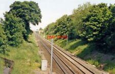 PHOTO  CROFT SPA RAILWAY STATION CO. DURHAM SITE 1988 NER YORK-NEWCASTLE MAIN