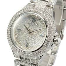 NEW MICHAEL KORS MK5869 CAMILLE SILVER TONE CRYSTAL PAVE GLITZ DIAL WOMENS WATCH