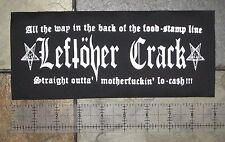 LEFTOVER CRACK Patch DIY Crust Punk MDC Oi Polloi Operation Ivy Filth Anti-flag