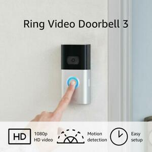 NEW Ring Video Doorbell 3 1080p HD improved motion detection Alexa Latest Model