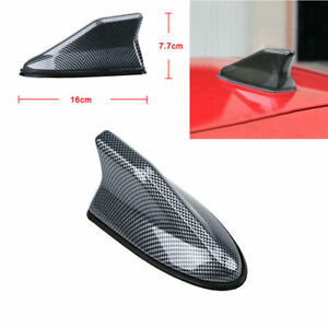 1x Carbon Fiber Shark Fin Roof Antenna Radio AM/FM Signal Aerial Car Accessories