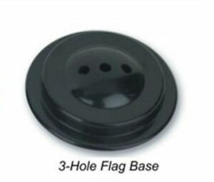 "3 Hole Miniature Desk Flag Stand Base Plastic 3/16"" Diameter For 4"" x 6"""