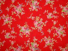 Flower Sugar 31130 30 Lecien Rose Floral Princess Antique Cottage Vintage Red
