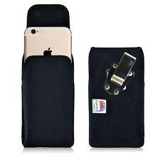 Turtleback Apple iphone 6s Nylon Vertical Black Holster Phone Case, Metal Clip