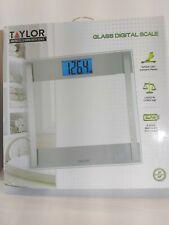 Taylor Digital Glass Silver Digital Scale Model 7614 New in Box Nib