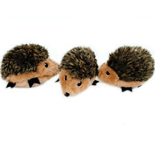 3-PACK ZippyPaws Squeaky Hedgehogs Miniz Plush Dog Squeaker Toy