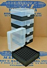 .223 / 556 ammo case / box 100 round (5) X (Clear / Black) 223 556 Berry's mfg
