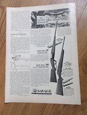 1953 Savage Rifle Gun Ad Model 99 & Model 340