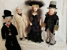 Collectible Dolls - Charlie Chaplin, Mark Twain, Mae West & Wc Fields
