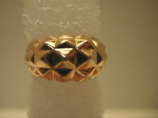 14KT Rose Gold Geodesic Dome Ring Sz. 7