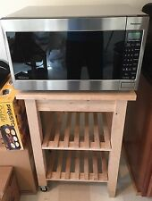Panasonic Stainless steel microwave w/Sensor Cooking & Inverter & Wooden Stand