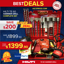 HILTI 60 ATC, L@@K, EXCELLENT CONDITION, FREE DRILL AND CHISELS, FAST SHIPPING