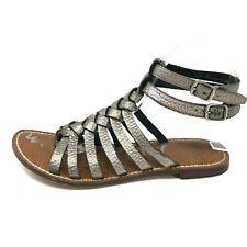 Sam Edelman GRECO Womens 7.5 Metallic Strappy Gladiator Sandals