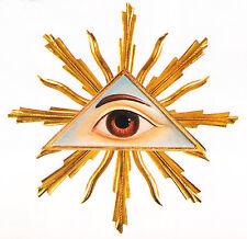 OCCHIO DI DIO CON GLORIOSA -GOD'S EYE WITH HALO- AUGE GOTTES MIT GLORIOSE cm. 18