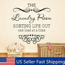 The Laundry Room Quote Removable Words Wall Sticker Decal Home Kitchen Decor e