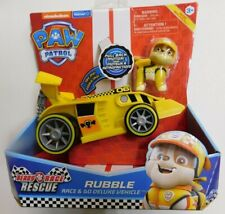 PAW PATROL, Ready, Race, Rescue RUBBLE Race & Go Deluxe Vehicle w/ Sound-NEW