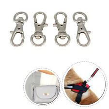 Silver Tone Metal Trigger Swivel Clasp Hook with 8mm D Ring for Bags Keychains