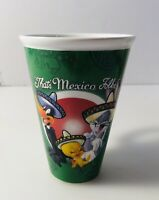 Looney Tunes Daffy Bugs Tweety That's All Folks Cup Mug Mexico Mexican Version