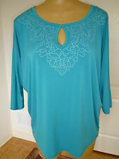 $89 NWT Jones New York lightweight kimono split sleeve top tunic sz 2X