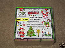 9 Christmas  Rubber Stamp Kit