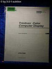 Sony Bedienungsanleitung CPD E100E Computer Display (#2048)