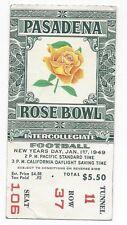 1949 Rose Bowl football ticket stub Northwestern Wildcats California Bears VGEX