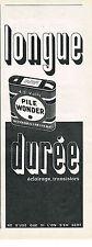 PUBLICITE ADVERTISING  1963    PILE WONDER 4,5 VOLTS
