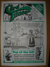 CARD TIMES MAGAZINE FORMERLY CIGARETTE CARD MONTHLY No 74 JANUARY 1996