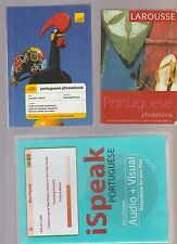 """Portugues Language - 2 Phrase Books and """"Ispeak Audio & Visual"""" by Chapin"""