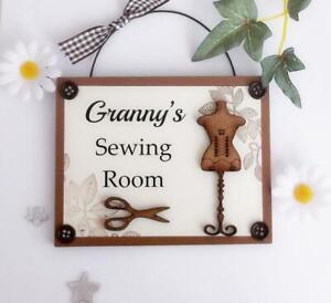 Granny's Sewing Room Wooden Plaque Door Hanger