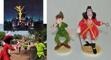 Disneyland 1988-2000 Theme Park Souvenir Peter Pan & Hook Collection Set of (2)