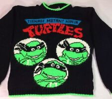 VTG 1990 Teenage Mutant Ninja Turtles Sweater Boys 4 90's TMNT Acrylic