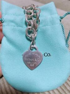 Tiffany & Co. Sterling Silver 925 Return to Heart Charm Tag Bracelet NO BOX / 3