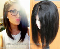 Silky BOB Straight Wig 100% Indian Remy Human Hair Full Lace wig Lace Front wigs