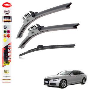 """Fits Audi A6 2012-2017 Heyner Super Flat Premium Wiper Blades 26""""21""""12""""F"""