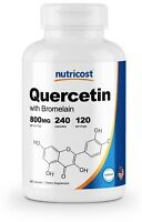 Nutricost Quercetin 800mg, 240 Vegetarian Capsules With Bromelain - 120 Servings