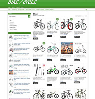 BIKE / CYCLE UK WEBSITE WITH ONE YEARS HOSTING + DOMAIN - EASY TO RUN AT HOM