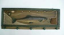 Wood Carved Bass Fishing Themed Coat Hanger