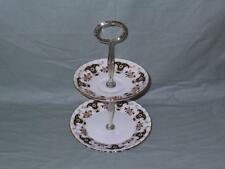 Royal Stafford Balmoral Bone China 2-Tier Biscuit Plate Small Cakestand