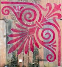 WICOART WINDOW COLOR STICKER CLING FAUX STAINED GLASS ART ANGLE CORNER LYS