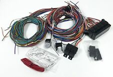 Complete Universal 12v 24 Circuit 20 Fuse Wiring Harness Wire Kit Hot Rod Rat V8