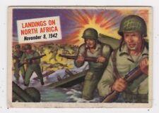 TOPPS 1954 SCOOP CARD #30 LANDINGS ON NORTH AFRICA, NOV. 8, 1942