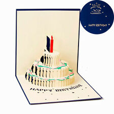NEW Party Greeting 3D Pop Up Cards Cake Happy Birthday Valentines Day Postcard