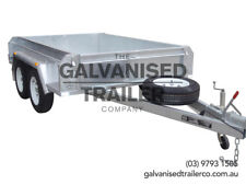 8x5 Tandem Trailer Galvanised Heavy Duty With 410mm Deep Checker Plate Sides