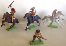 Britains 1971 Lot de 4 figurines cowboys indiens etc...vintage